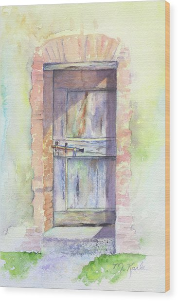 Tuscan Doorway Wood Print