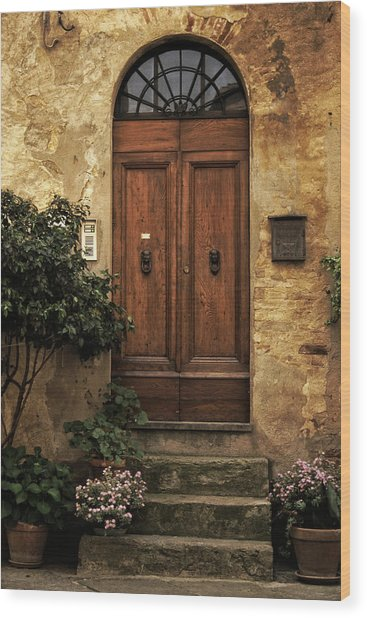 Tuscan Entrance Wood Print