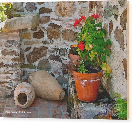 Tuscan Farm Wood Print