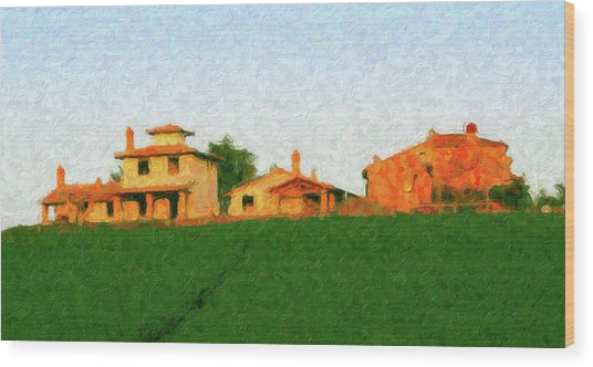 Tuscan Farmhouse Wood Print