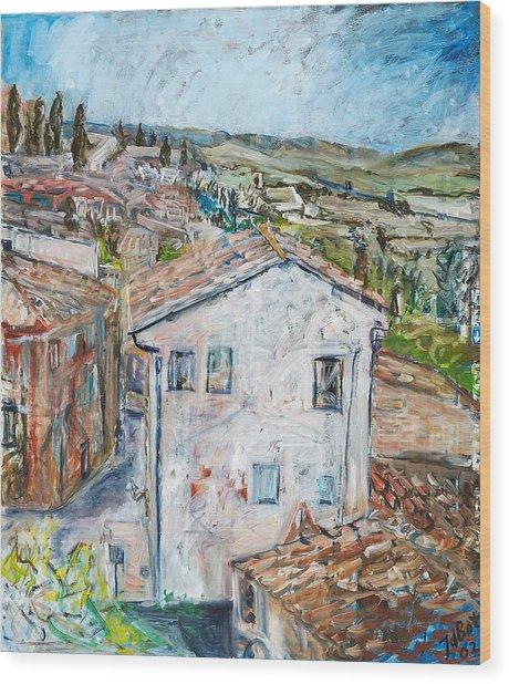 Tuscan House Wood Print by Joan De Bot