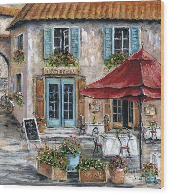 Tuscan Trattoria Square Wood Print