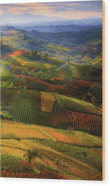 Tuscany, Italian Wineyards  Wood Print