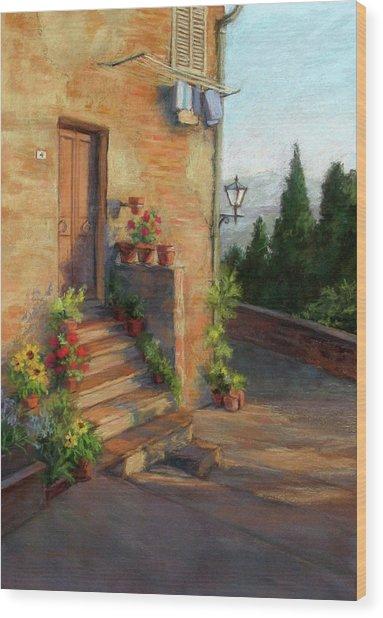 Tuscany Morning Light Wood Print