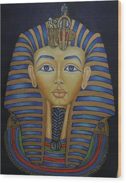 Tutankhamun Wood Print by Margit Armbrust