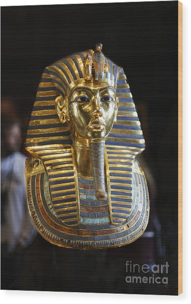 Tutankhamun's Magnificent Golden Death Mask. Wood Print