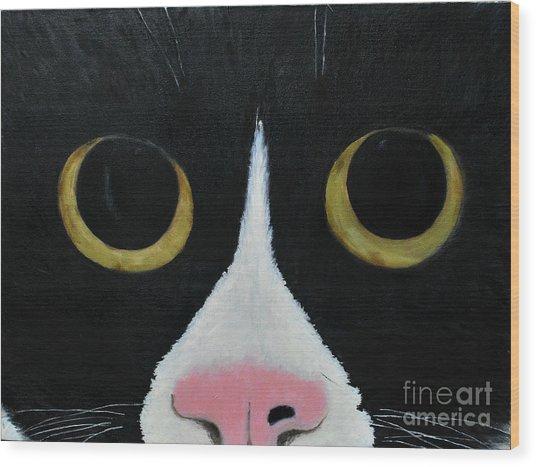 Tux Portrait  Wood Print