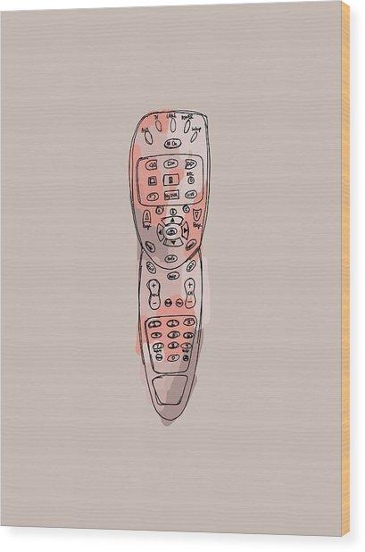 tv remote II Wood Print