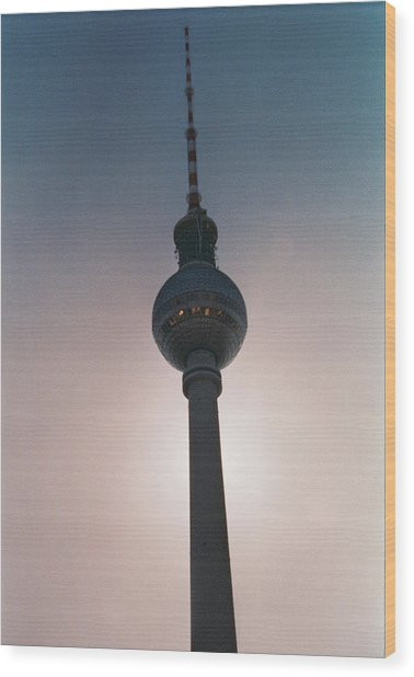 Tv Tower Berlin Wood Print