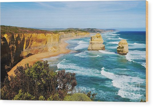 Twelve Apostles Australia Wood Print
