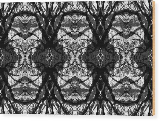Twelve Trees Wood Print