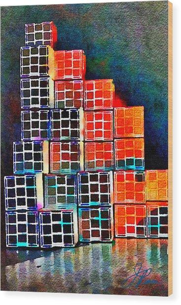 Twenty Four Boxes Wood Print