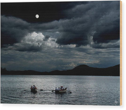 Twice In A Blue Moon Wood Print