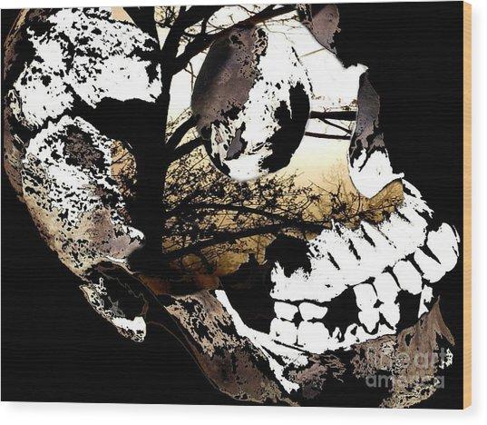 Twigs Wood Print