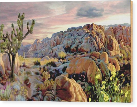 Twilight At Joshua Wood Print