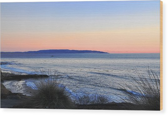 Twilight At Shell Beach Wood Print by Lorrie Morrison