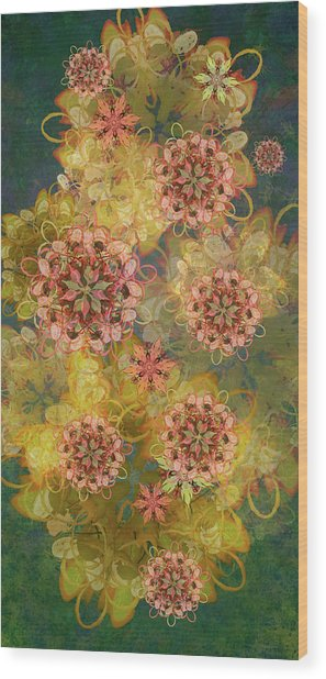Twilight Blossom Bouquet Wood Print
