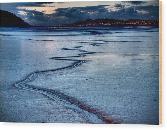 Twilight, Conwy Estuary Wood Print