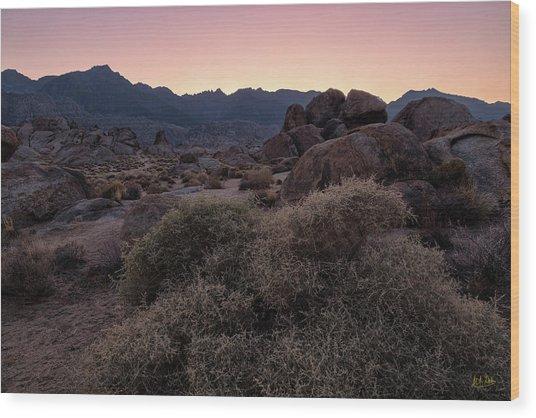 Wood Print featuring the photograph Twilight Descends by Stuart Gordon