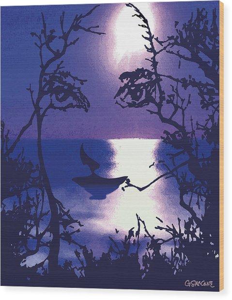 Twilight Face Wood Print