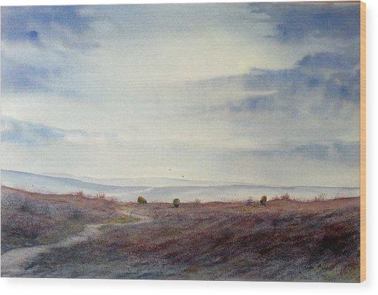 Twilight Settles On The Moors Wood Print