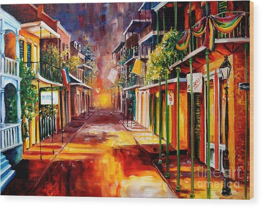 Twilight In New Orleans Wood Print