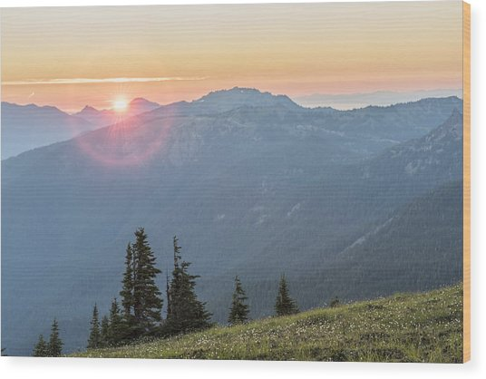 Twilight Is Coming Wood Print by Jon Glaser
