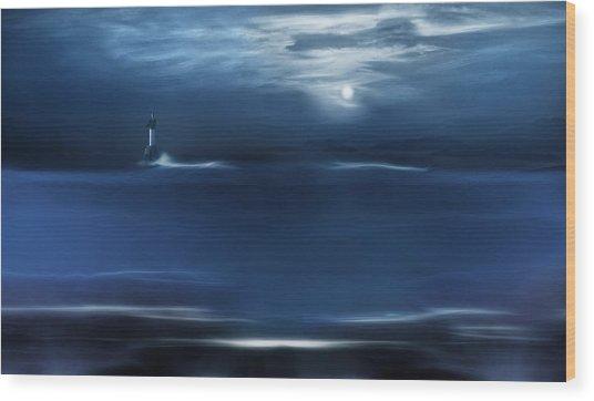 Twilight Moon Wood Print