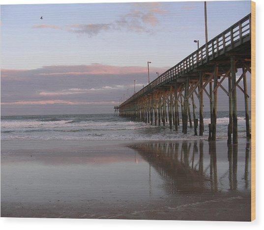Twilight Pier Wood Print by Al Smith