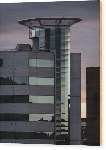 Twilight Reflection - Radisson Plaza Hotel Wood Print
