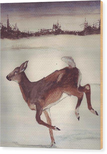 Twilight Run Wood Print by Debra Sandstrom
