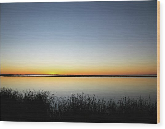 Twilight Stillness Down By The Beach Lagoon Wood Print