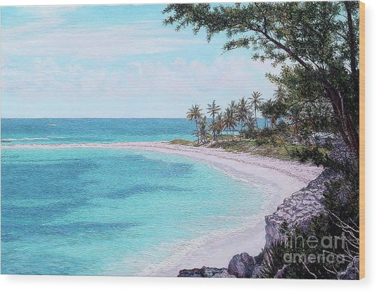 Twin Cove Paradise Wood Print