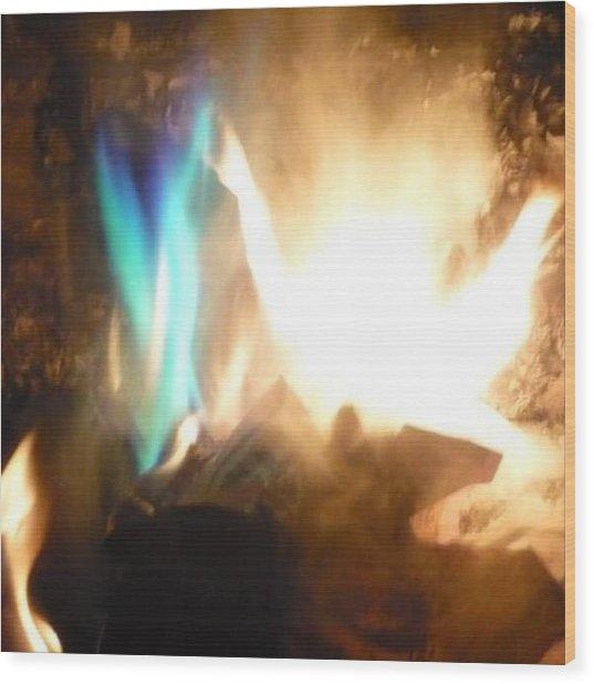 Twin Flame Wood Print