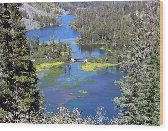 Twin Lakes Eastern Sierra Photography Wood Print