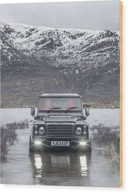 Twisted Land Rover Defender Wood Print
