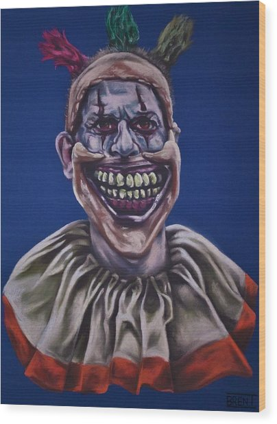 Twisty The Clown  Wood Print