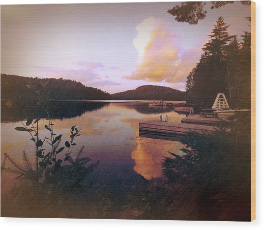 Twitchell At Sunset Wood Print