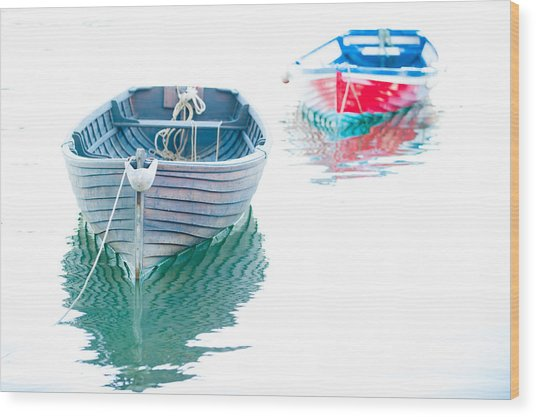 Two Boats Wood Print