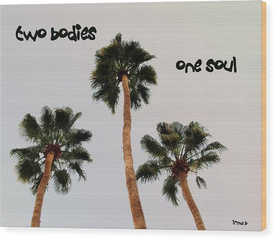Two Bodies Wood Print by Irma BACKELANT GALLERIES