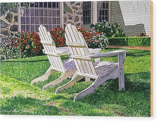 Two Chairs On Carmelina Wood Print
