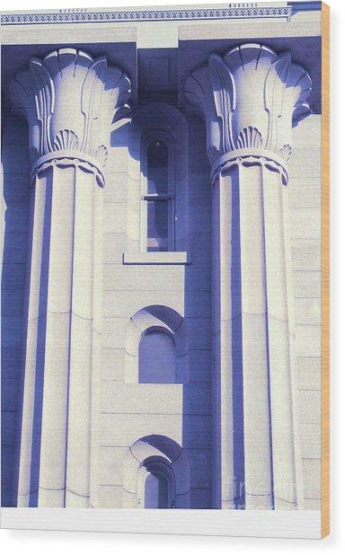 Two Columns Wood Print