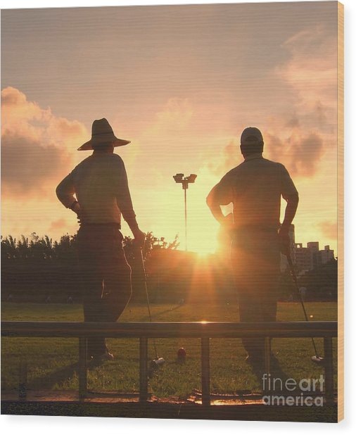 Two Croquet Players Wood Print