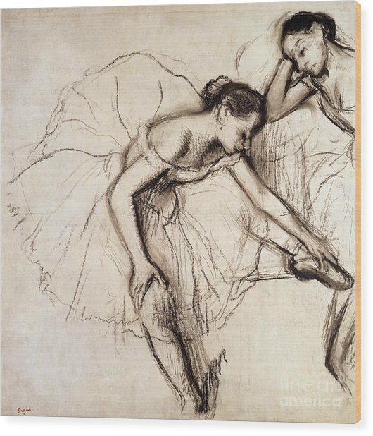 Two Dancers Resting Wood Print