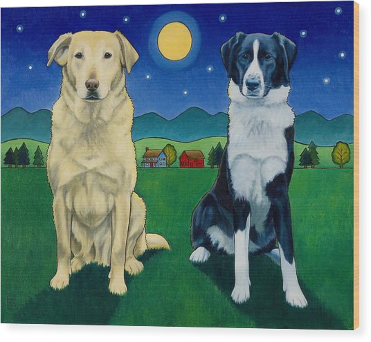 Two Dog Night Wood Print