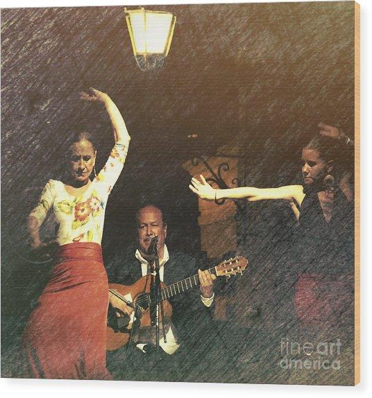 Two For Flamenco Wood Print