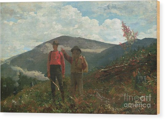 Two Guides Wood Print