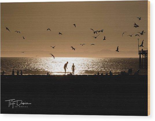 Two In Sun Wood Print