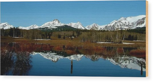 Two Med River Reflection Wood Print