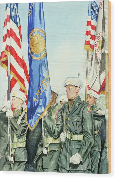 Two Months After 9-11  Veteran's Day 2001 Wood Print